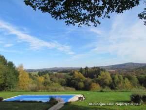winter view of pool #dordognelakeproperty