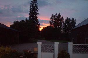 sunset Front of House #dordognelakeproperty