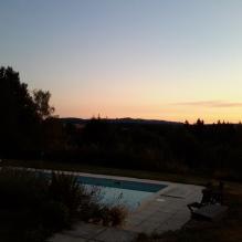 sunset over the patio #dordognelakeproperty