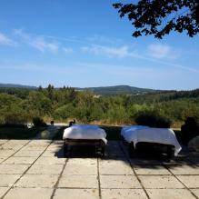 Sun Terrace overlooking the view #dordognelakeproperty